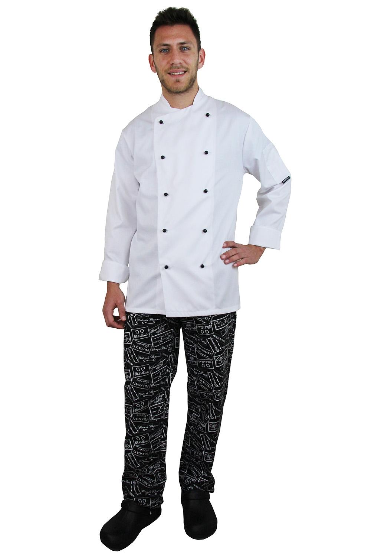 Μπλούζα μάγειρα σταυρωτή με περαστά κουμπιά (Π-C834W)